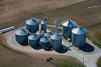 aerial photograph grain storage bins Iowa