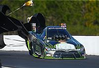 Mar 20, 2016; Gainesville, FL, USA; NHRA funny car driver Alexis DeJoria during the Gatornationals at Auto Plus Raceway at Gainesville. Mandatory Credit: Mark J. Rebilas-USA TODAY Sports
