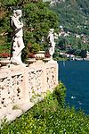 Gardens at the Villa Monastero in Varenna, Italy on Lake Como
