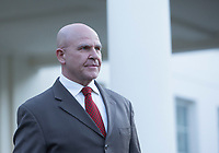 United States National Security Advisor, US Army Lieutenant General H. R. McMaster, makes a statement at the White House in Washington, DC refuting a Washington Post article alleging that US President Donald J. Trump shared secret information with the Russian Foreign Minister and Ambassador during their recent meeting, May 15, 2017. <br /> Credit: Chris Kleponis / Pool via CNP /MediaPunch