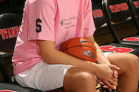STANFORD, CA - FEBRUARY 14:  A pink shirt worn by forward Ashley Cimino #24 of the Stanford Cardinal during Stanford's 58-41 win against the California Golden Bears on February 14, 2009 at Maples Pavilion in Stanford, California.