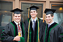 John Hoyt, from left,  Matthew Davies, Jared Winikor. Commencement class of 2013.