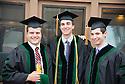 John Hoyt, from left,  Matthew Davies, Jared Winikor. Commencement class of 2013.