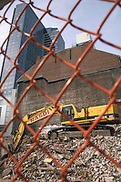 Demolition of old building makes way for new construction, Boston,  MA