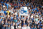 St Johnstone v Dundee...13.09.14  SPFL<br /> St Johnstone fans wave a tractor flag<br /> Picture by Graeme Hart.<br /> Copyright Perthshire Picture Agency<br /> Tel: 01738 623350  Mobile: 07990 594431