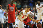 Florida's Scottie Wilbekin (5) vs. Ole Miss' Murphy Holloway (31) in the SEC championship game at Bridgestone Arena in Nashville, Tenn. on Sunday, March 17, 2013.