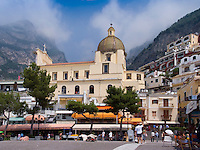 Chiesa di Santa Maria Assunta, Church in Positano. Amalfi Coast, Campania, Italy, World Heritage Site.
