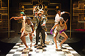 London, UK. 23.10.2014. A HARLEM DREAM choreographed by Ivan Blackstock, opens in the Maria, at the Young Vic. Picture shows: The company: Chris Arias, Ivan Blackstock, Darren Charles, Kiel Ewen, Shannelle 'Tali' Fergus, Robia Milliner Brown, L'atisse Rhoden, Rhea T-W, Chaldon Williams. Photograph © Jane Hobson.
