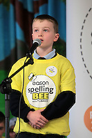 NO FEE PICTURES.8/3/12 Fionn O Muiri, Scoil Lorcain, Cearnog Erinn, taking part in the Dublin County final, part of the overall Eason 2012 Spelling Bee, held at St Olaf's NS, Dundrum. .For further details visit www.easons.com/spellingbee and stay tuned to RTE 2fm. Picture:Arthur Carron/Collins
