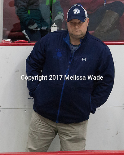 Jeff Torre (Yale - Equipment Manager) - The Harvard University Crimson defeated the Yale University Bulldogs 6-4 in the opening game of their ECAC quarterfinal series on Friday, March 10, 2017, at Bright-Landry Hockey Center in Boston, Massachusetts.