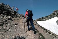 Liechtenstein  Malbun  June 2008.Small town high in the Alpine (southeastern)..Fürstin-Gina-Weg' (Princess Gina memorial trail)..Walking trail