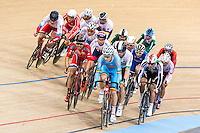 Picture by Alex Whitehead/SWpix.com - 04/03/2016 - Cycling - 2016 UCI Track Cycling World Championships, Day 3 - Lee Valley VeloPark, London, England - Riders in action during the Scratch Race round of the Men's Omnium competition.