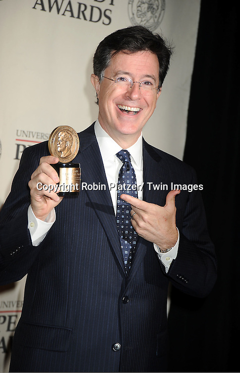 winner Stephen Colbert attends the 71st Annual Peabody Awards at the Waldorf Astoria Hotel in New York City on May 21, 2012.