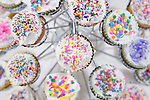 Cupkakes sprinkled with colorful decorations for a celebration