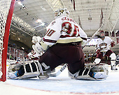 Molly Schaus (BC - 30), Ashley Motherwell (BC - 18) - The Boston College Eagles and the visiting University of New Hampshire Wildcats played to a scoreless tie in BC's senior game on Saturday, February 19, 2011, at Conte Forum in Chestnut Hill, Massachusetts.