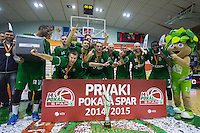 20150221: SLO, Basketball - Spar Slovenian Cup, Final, KK Krka vs KK Zlatorog