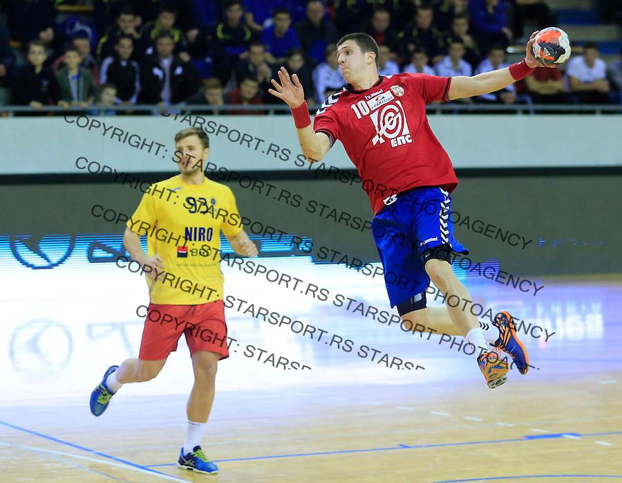 Rukomet-Handball<br /> Srbija v Rumunija-Prijateljski mec friendly match<br /> Darko Dukic (R)<br /> Beograd, 28.12.2015.<br /> foto: Srdjan Stevanovic/Starsportphoto&copy;