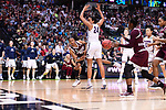 DALLAS, TX - MARCH 31:  Morgan William #2 of the Mississippi State Lady Bulldogs passes to Breanna Richardson #3 of the Mississippi State Lady Bulldogs during the 2017 Women's Final Four at American Airlines Center on March 31, 2017 in Dallas, Texas. (Photo by Justin Tafoya/NCAA Photos via Getty Images)