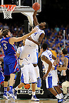 2 APR 2012: Forward Michael Kidd-Gilchrist (14) from the University of Kentucky pulls down a rebound during the Championship Game of the 2012 NCAA Men's Division I Basketball Championship Final Four held at the Mercedes-Benz Superdome hosted by Tulane University in New Orleans, LA. Kentucky defeated Kansas 67-59 to claim the championship title. Ryan McKeee/ NCAA Photos.