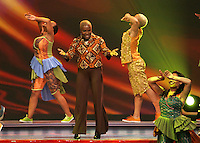 Angelina Kudu performs during the FIFA Final Draw for the FIFA World Cup 2010 South Africa held at the Cape Town International Convention Centre (CTICC) on December 4, 2009.