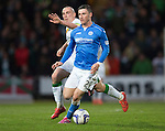 St Johnstone v Celtic...15.05.15   SPFL<br /> Michael O'Halloran and Scott Brown<br /> Picture by Graeme Hart.<br /> Copyright Perthshire Picture Agency<br /> Tel: 01738 623350  Mobile: 07990 594431