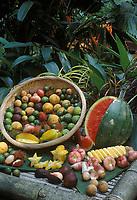 Asie/Malaisie: Fruits tropicaux - Mangoustan, litchi, ramboutan, carambole, duku, sentul, jambo, etc.