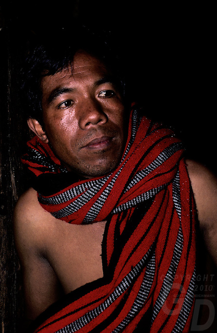 Traditional Ifugao man in a small village, amongst the Banoue Rice Terraces circa 1990