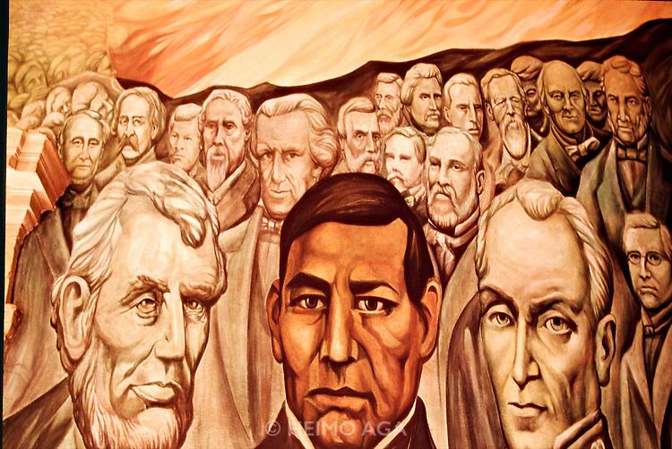 Mexico heimo aga for Benito juarez mural