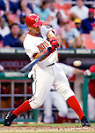 12 June 2006: Royce Clayton, shortstop for the Washington Nationals, at bat against the Colorado Rockies at RFK Stadium, in Washington, DC. The Nationals fell to the Rockies 4-3 in the first game of the four game series...Mandatory Photo Credit: Ed Wolfstein Photo..