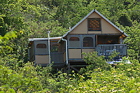 Eco tents at Estate Concordia on St. John's south east coast near Salt Pond Bay and Ram Head