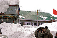 In the small village of Tarnmarg a few kilometres from gulmarg, young boys play together
