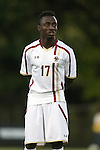26 September 2014: Boston College's Isaac Normesinu (GHA). The Duke University Blue Devils hosted the Boston College Eagles at Koskinen Stadium in Durham, North Carolina in a 2014 NCAA Division I Men's Soccer match. Duke won the game 1-0.