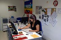 Roma 1 Settembre 2008. Riunione di redazione al quotidiano Il Manifesto..Segreteria di redazione.