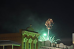 Fireworks light up the sky behind Square Books for the 4th of July, in Oxford, Miss. on Wednesday, July 4, 2012.