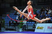 Viktoriya Shynkarenko of Ukraine (junior) performs at 2010 World Cup at Portimao, Portugal on March 13, 2010.  (Photo by Tom Theobald).
