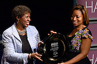 """January 26, 2012  (Washington, DC)  PBS """"Washington Week"""" host Gwen Ifill is inducted to the 2012 National Association of Black Journalists (NABJ) Hall of Fame at the Newseum in Washington.  (Photo by Don Baxter/Media Images International)"""