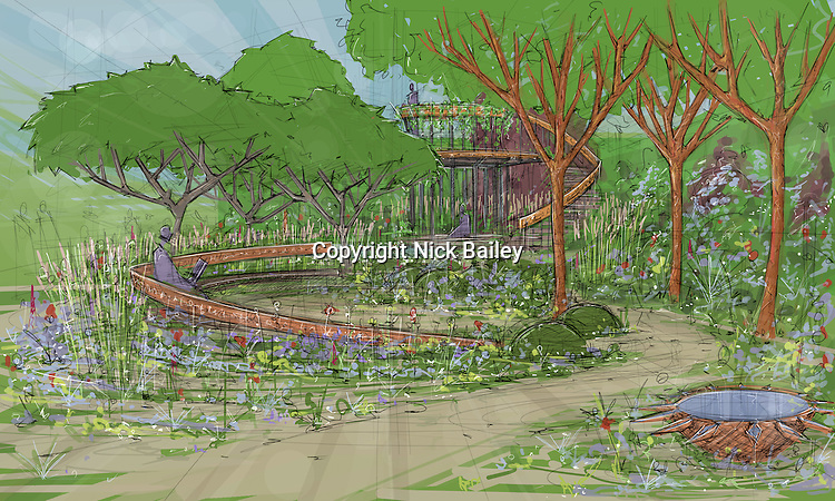 The Winton Capital Beauty of Mathematics Garden by designer Nick Bailey