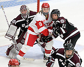 Alana Marcinko (Union - 29), Sarah Lefort (BU - 9), Kelly McGrath (Union - 11) - The Boston University Terriers defeated the visiting Union College Dutchwomen 6-2 on Saturday, December 13, 2012, at Walter Brown Arena in Boston, Massachusetts.
