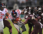 Ole Miss' Enrique Davis (27) vs. Mississippi State in Starkville, Miss. on Saturday, November 26, 2011.