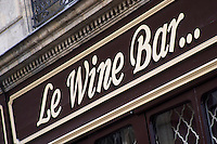 Le Wine Bar. Bordeaux city, Aquitaine, Gironde, France