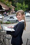 """workin' for a living"" paolo diego photography working woman hanging out at computer coffee cafe Working for a living working woman hanging out at computer coffee cafe"