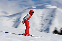 Europe/France/Rhone-Alpes/74/Haute-Savoie/Megève: skieur à Rochebrune