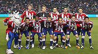 CARSON, CA – APRIL 9, 2011: Chivas USA starting line-up before the match between Chivas USA and Columbus Crew at the Home Depot Center, April 9, 2011 in Carson, California. Final score Chivas USA 0, Columbus Crew 0.