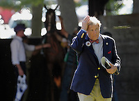 Rick Porter of Fox Hill Farm, owner of Havre de Grace, in the Delaware Park paddock before the Delaware Handicap. Havre de Grace finished a close second to Blind Luck in the race at Delaware Park in Stanton, DE, on July 16, 2011.  (Joan Fairman Kanes/Eclipsesportswire)