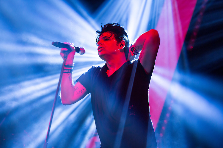Durham, North Carolina - Friday May 20, 2016 -Gary Numan performs in Fletcher Hall in the Carolina Theatre Friday night at Moogfest in Durham.
