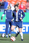"""16 October 2004: Cat Reddick before the game. The United States defeated Mexico 1-0 at Arrowhead Stadium in Kansas City, MO in an women's international friendly soccer game as part of the U.S.'s """"Fan Celebration Tour.""""."""