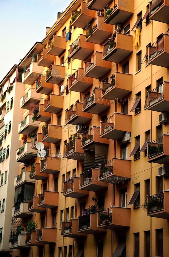 Roma 24 Marzo 2010. Edilizia popolare al quartiere di Casal Bertone