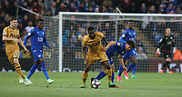 Leicester City's Shinji Okazaki and Tottenham Hotspur's Victor Wanyama<br /> <br /> Photographer Stephen White/CameraSport<br /> <br /> The Premier League - Leicester City v Tottenham Hotspur - Thursday 18th May 2017 - King Power Stadium - Leicester <br /> <br /> World Copyright &copy; 2017 CameraSport. All rights reserved. 43 Linden Ave. Countesthorpe. Leicester. England. LE8 5PG - Tel: +44 (0) 116 277 4147 - admin@camerasport.com - www.camerasport.com
