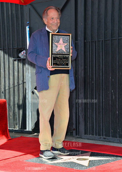 George Segal at the Hollywood Walk of Fame Star Ceremony honoring actor George Segal. Los Angeles, USA 14 February  2017<br /> Picture: Paul Smith/Featureflash/SilverHub 0208 004 5359 sales@silverhubmedia.com