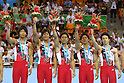 Japan national team group, ..AUGUST 14, 2011 - Artistic Gymnastics : ..The 26th Summer Universiade 2011 Shenzhen ..Team competition ..at Shenzhen Baoan Gymnasium, Shenzhen, China. ..(Photo by YUTAKA/AFLO SPORT) [1040]